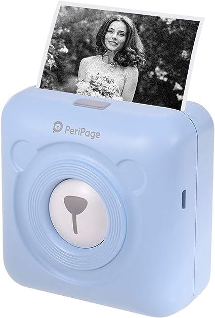 Mini Stampante Fotografica Termica per Foto da Cellulare BlueTooth Senza Fili Immagine Photo Label Receipt Stampante di Carta per Android iOS Smartphone Rosa