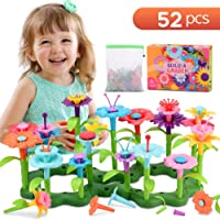 Snoky Flower Garden Building Toys for 5 Year Old Girls Gifts Kids Stem Toys for 3 4 Yrs Stem Educational Pre-Kindergarten Toys for Age 2 Birthday Gifts (52PCS)