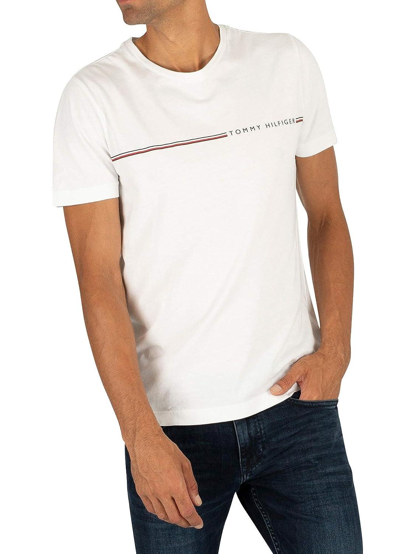 Tee shirt a col rond en coton bio tommy hilfiger MClassics