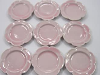 Dollhouse Miniatures Ceramic 12//24 Coffee Cup Pink Scallop Plate Saucer #S 12612
