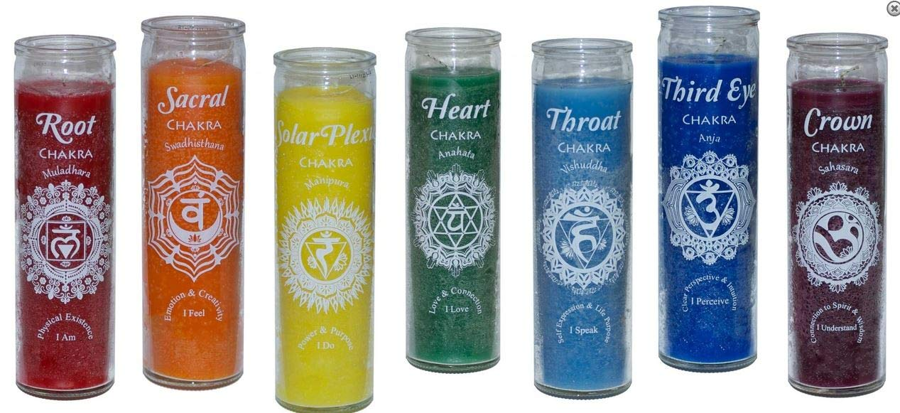 Chakra 7 Day Candles - Complete Set - 7 Pieces - Free & Fast Shipping