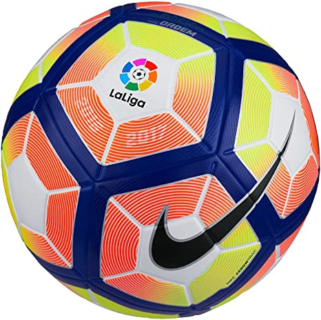 Nike Ordem 4-La Liga LFP Balón, Unisex Adulto, (Blanco/Orange/Blue ...