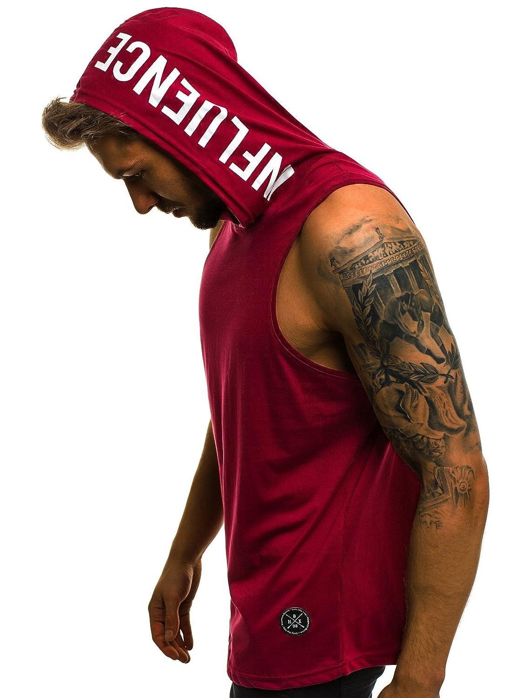OZONEE Mix Uomo Top Canotta Serbatoio tankshirt T-Shirt Cappuccio Canottiera Senza Maniche Canotta Uomo Fitness Mad/2537 4335_OZONEE-MAD/2537_BO