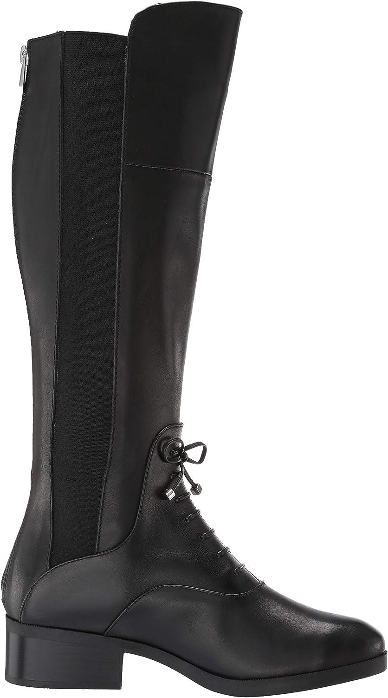 Adrienne Vittadini Women's Moshiko Equestrian Boot Black