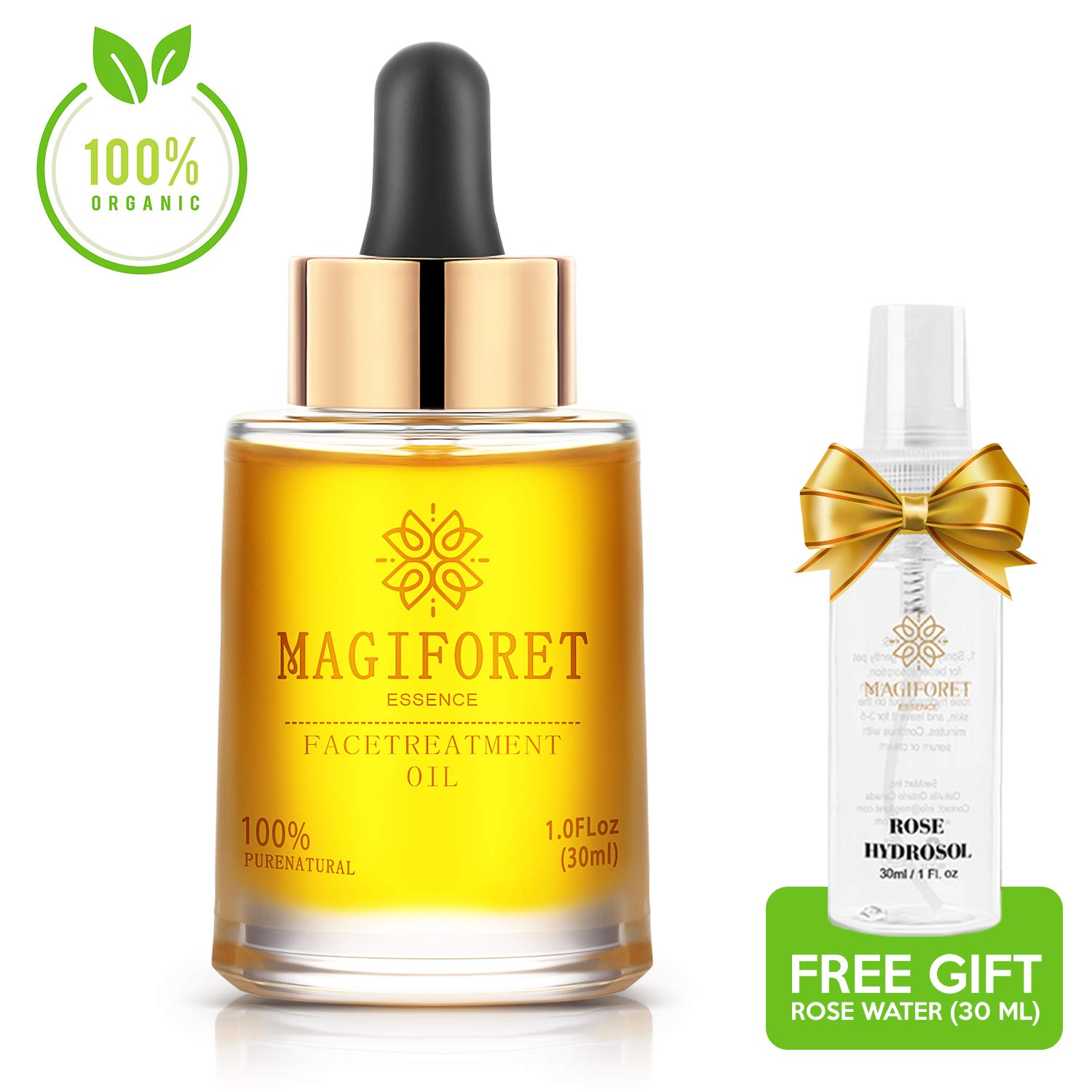 Face Oil, MagiForet Natural Facial Oil osmanthus 1.0 oz, Organic face serum, Vegan Anti Aging Moisturizer for unisex, safe for pregnant and breast feeding women, with Jojoba Oil Argan Oil Rosehip Oil