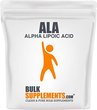 Bulksupplements.com ALA (Alpha Lipoic Acid) Powder - Antioxidants Supplement - Alpha Lipoic Acid - Nutritional Supplements (500 Grams) 833 Servings