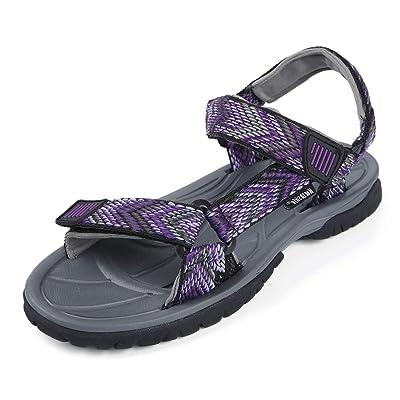 Northside Women's Seaview Sandal, Black/Violet, 8 M US | Sport Sandals & Slides
