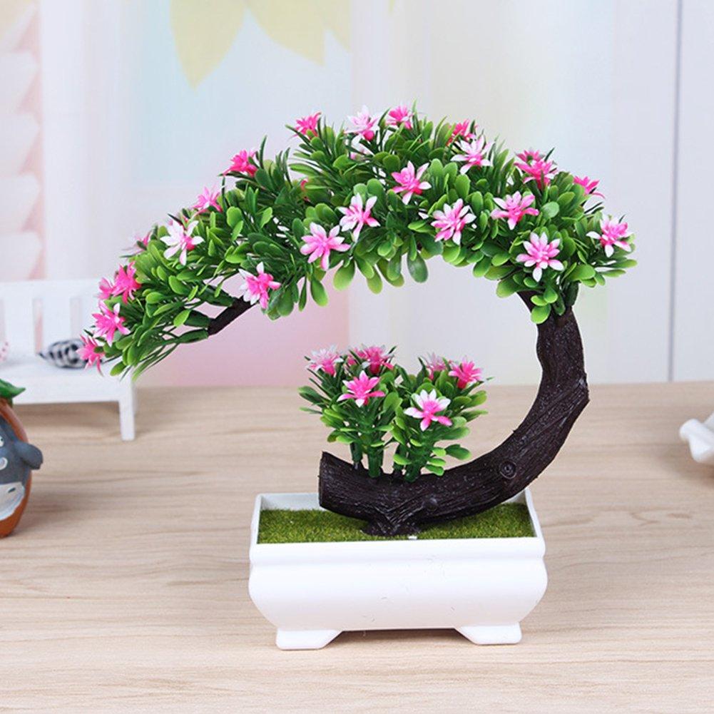 Dssttyle creativo fiore artificiale bonsai simulazione piante finte per casa ufficio decorazione Pink Dsstyle