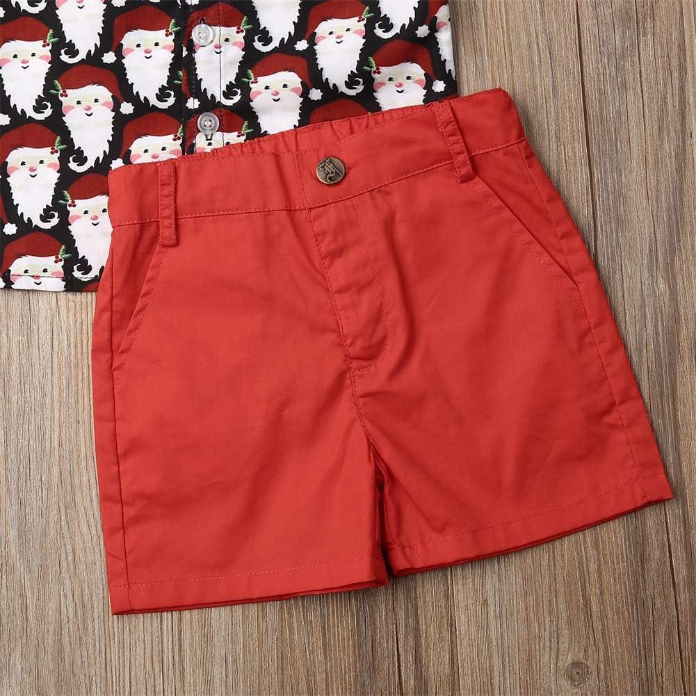 Toddler Baby Boy Clothes Short Sleeve Shirt Button Down Dinosaur Top Short Pants Summer Outfits Set