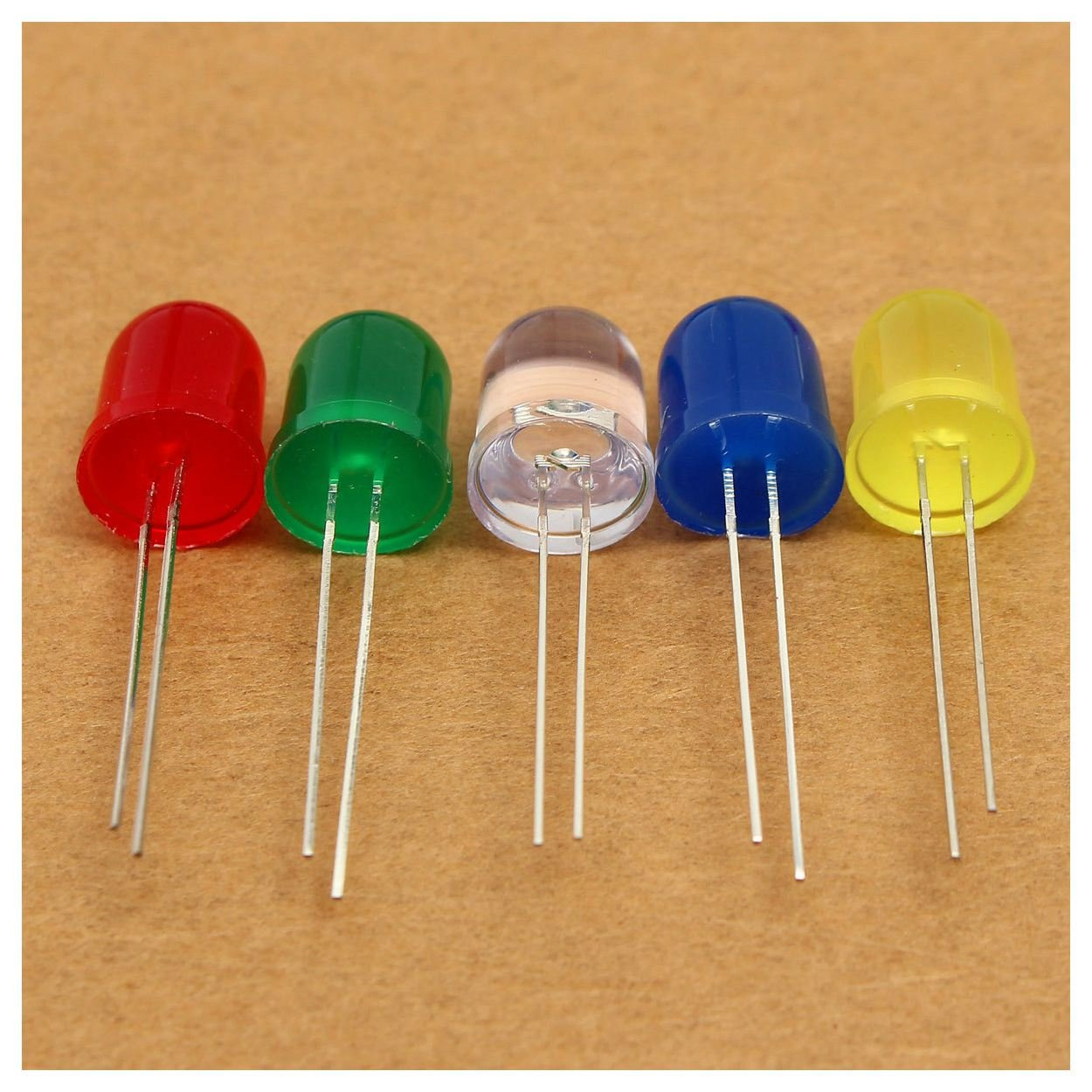 100pcs 10mm Orange Diffused Round Top Bright LED 5K MCD Leds Lamp Lights R