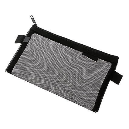 Amazon.com: Wodwad Simple Transparent Mesh Pencil Case ...