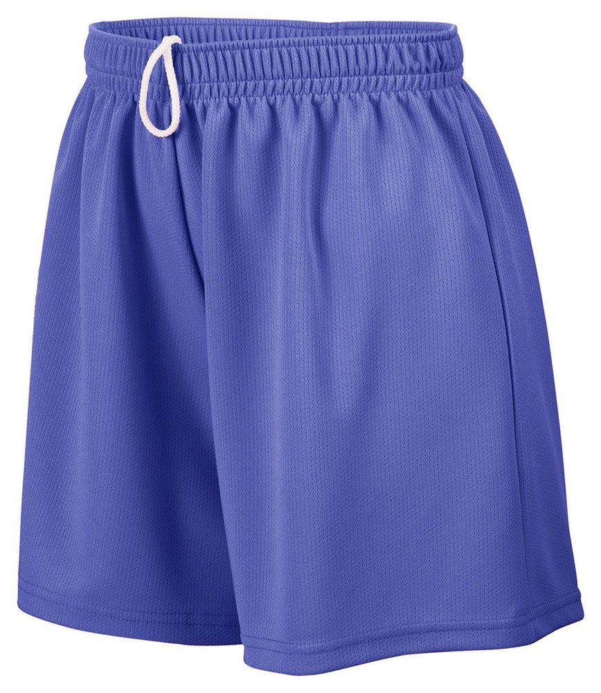 Augusta Sportswear Girl's Wicking Mesh Short, Medium, PURPLE