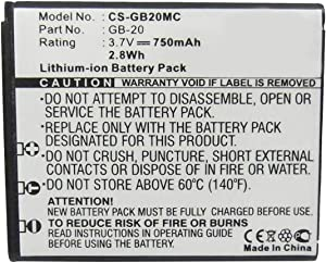 Digital Replacement Camera and Camcorder Battery for GE GB-20, E840S, G1, G2, G3 - Includes Lens Pouch
