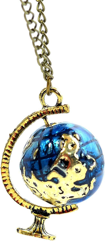 Vintage globo terráqueo en miniatura y telescopio Collar con 3D ...
