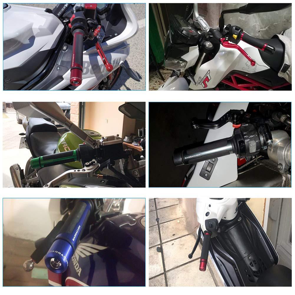 AXspeed 7//8 22mm Motorcycle Handlebar Grips Moto Racing Motorbike Hand Grip with Bar Ends Orange