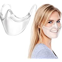 Duurzaam Transparent_Face_Mask, Clear Face_Shield Combineer Plastic Herbruikbare Clear Face Bandanas, Anti Fog en…
