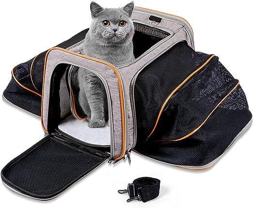 Sunix Pet Transportadoras para Perros y Gatos, Transportín Viaje ...