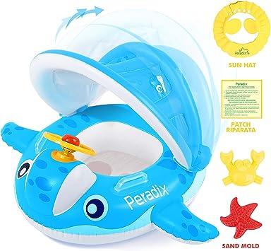 Peradix Flotador para Bebé con Asiento,Ideal para niños Piscina de ...