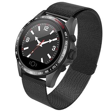 c3787196d2 Helius スマートウォッチ 2019 最新 スマートブレスレット 血圧計 心拍計 GPS 大画面 超軽量