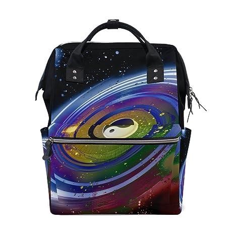 JSTEL - Bolsas para ordenador portátil, universidad, estudiante, viaje, Ying, Yang