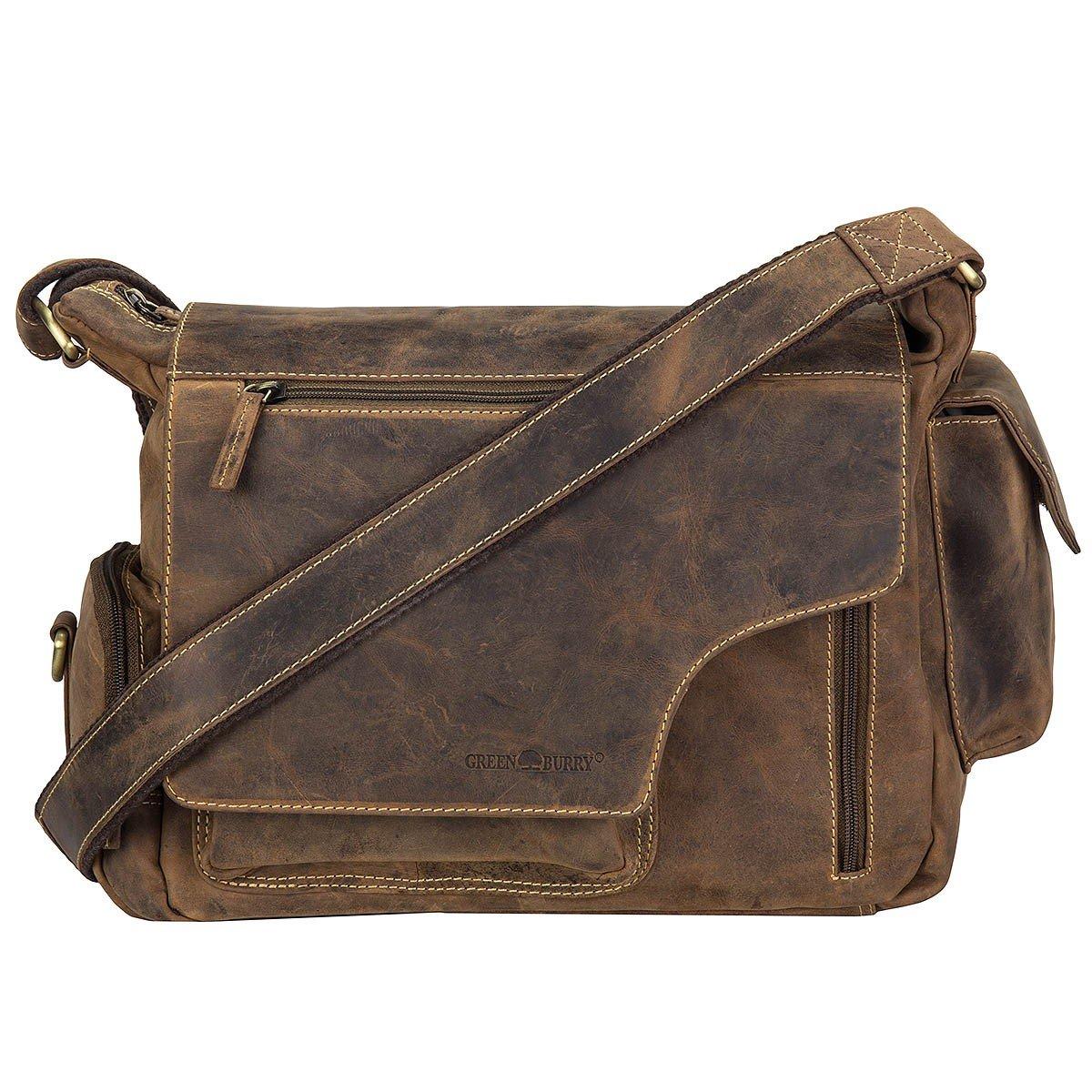 Greenburry Vintage Messenger serviette II cuir 39 cm brown