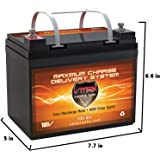 VMAXTANKS VMAX V35-857 12 Volt 35AH AGM Battery Marine Deep Cycle HI Performance Battery ideal for boats and 18-35lb…