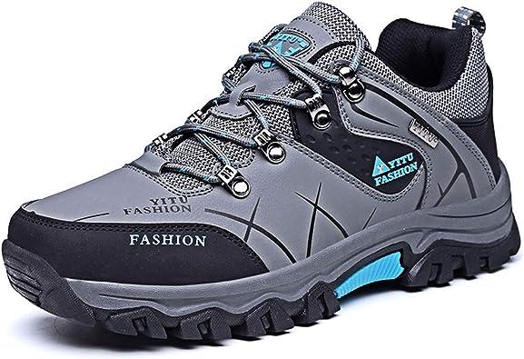 Zapatillas de Trekking para Hombres Mujeres Zapatillas de Senderismo Unisex Botas de Montaña Antideslizantes AL Aire Libre Zapatillas de Deporte: Amazon.es: Zapatos y complementos