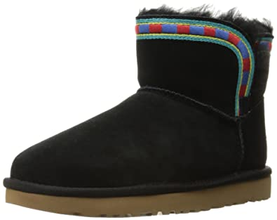UGG Women's Rosamaria Embroidery Winter Boot, Black, ...