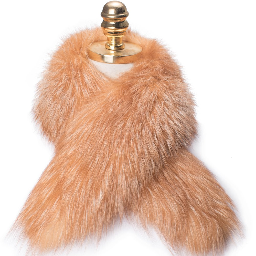 MONICA REA Women's Extral Larger Fox Fur Collar Shawl Scraf Perfect For Winter Coat by MONICA REA (Image #2)