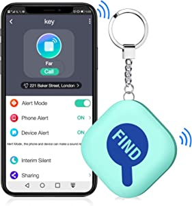 Key Finder,BEBONCOOL Key Finder with App for Android/iOS Phone, Key Finder Locator for Purse Wallet Keychain,Phone Finder with One Touch Find & Anti-Loss Function, Gift,Present