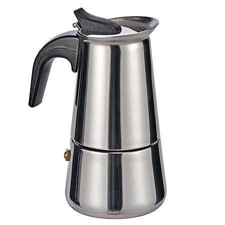 Acero inoxidable Cafetera para 2 tazas espresso Mango de plástico ...
