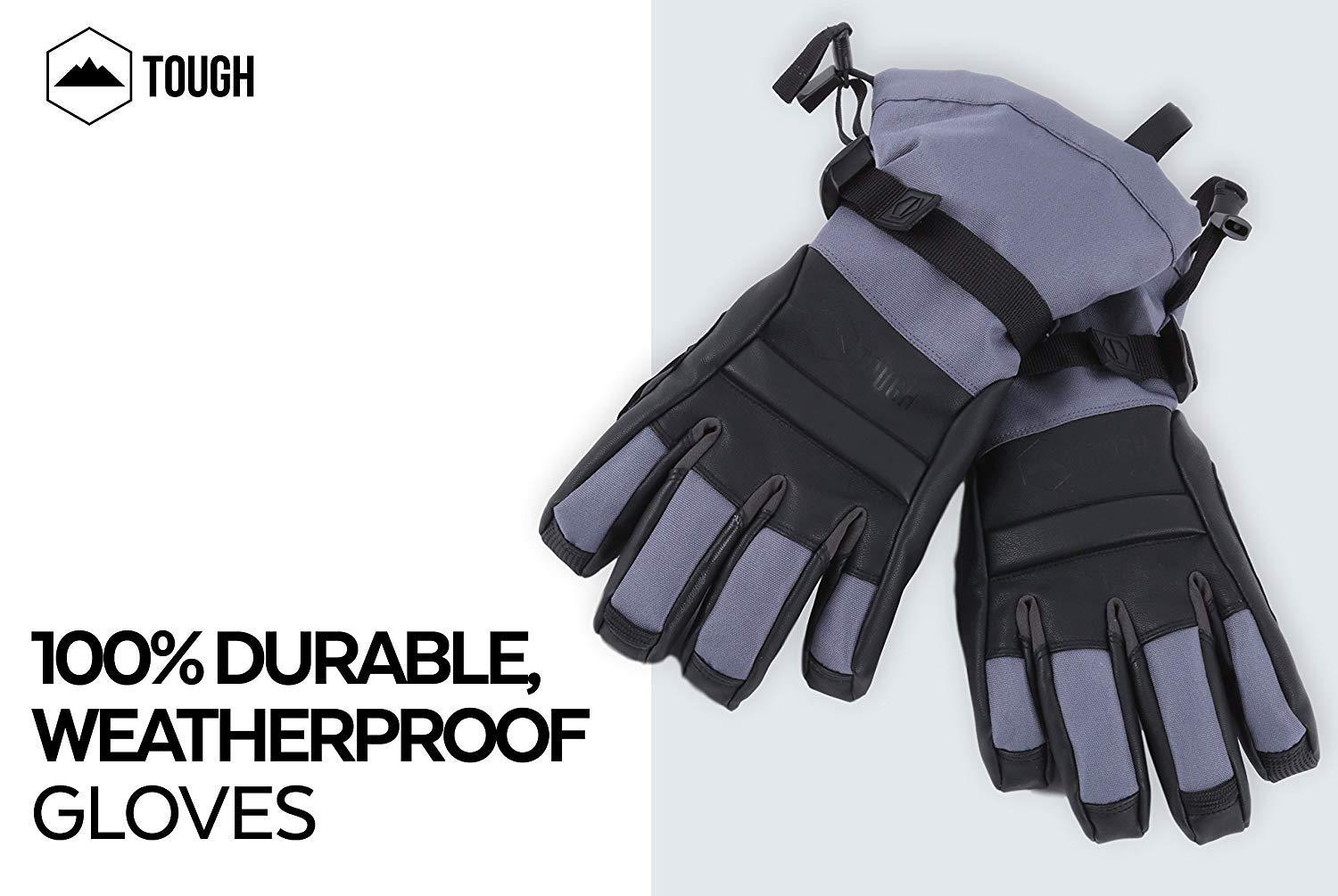Fits Men /& Women Shoveling Touchscreen Compatible Gray Shredder Ski /& Snowboard Glove Designed for Skiing Snowboarding Waterproof Gloves with Synthetic Leather Shell Construction