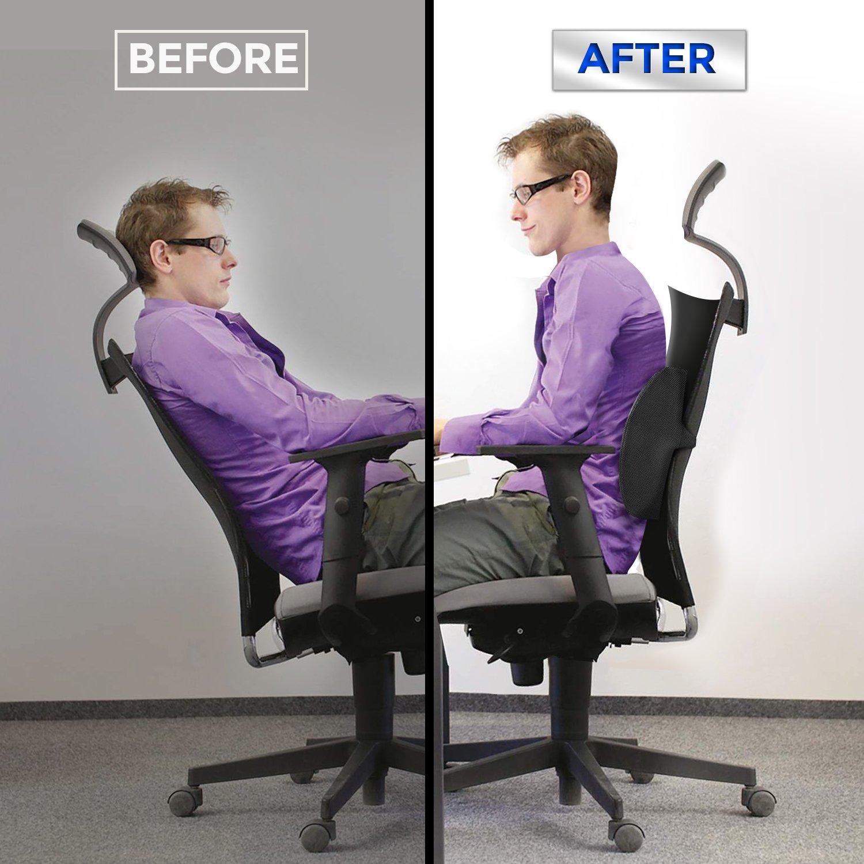 Tadge Goods Lumbar Support Lower Back Cushion Pillow