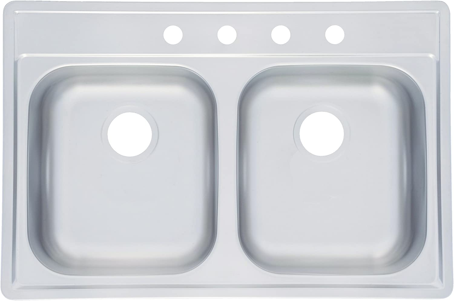 Kindred FDS804NB Large Double Bowl Stainless Steel 33x22in. Topmount Sink