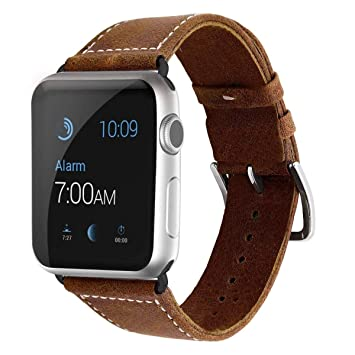 Uhren & Schmuck Uhrenarmbänder Lederarmband Für Die Apple Watch 42mm Uhrenarmband Armband Braun Moderne Techniken