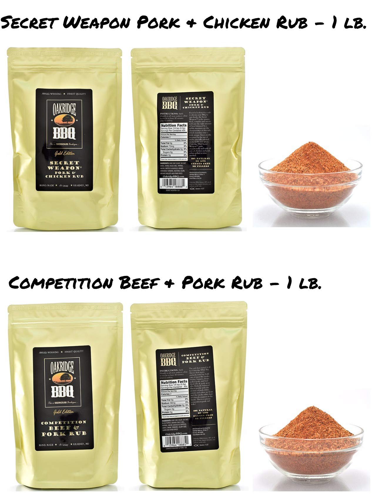 Oakridge BBQ The Ultimate Back Yard BarBQ Kit - Contains Eight (8) of the Most Popular Barbeque Rubs and Seasonings by Oakridge BBQ (Image #2)
