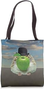Hedgehog Magritte The Apple Tote Bag