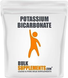 BulkSupplements Potassium Bicarbonate Powder - Potassium Supplement - Potassium Bicarbonate Food Grade - Food Thickener (500 Grams)