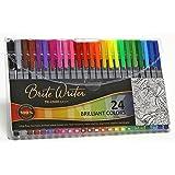 Premium Ultra-Fine Markers, Brite Writer Tri-Liner 0.4 mm, 24-Pack, Fineliner, Ultra-fine pens, non-toxic, brilliant water-based inks, fade-resistant, metal clad tip, ergonomic comfort-barrel grip