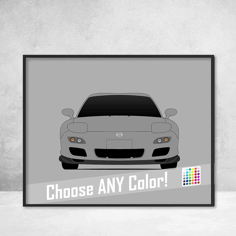 Mazda Rx7 Fd >> Amazon Com Mazda Rx 7 Fd Spirit R Poster Print Wall Art