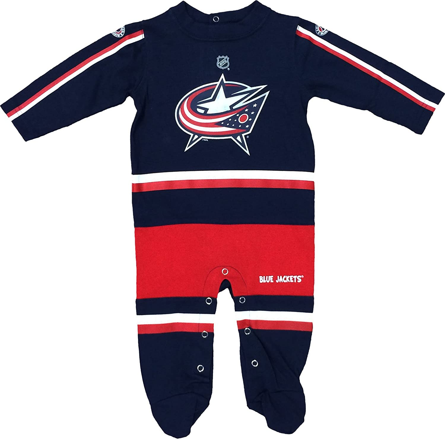 Amazon.com  Columbus Blue Jackets Navy Hockey Jersey Long Sleeve Newborn  Coverall  Clothing 0892edaffab