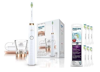 Philips Sonicare Diamond Clean Pack - Cepillo de dientes eléctrico con cabezales de repuesto y estuche