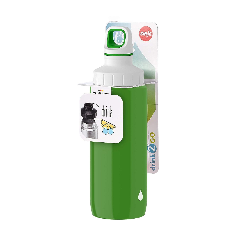Emsa Light Steel 518360 Edelstahl Trinkflasche Dragon AutoClose Verschluss 0,4 Liter