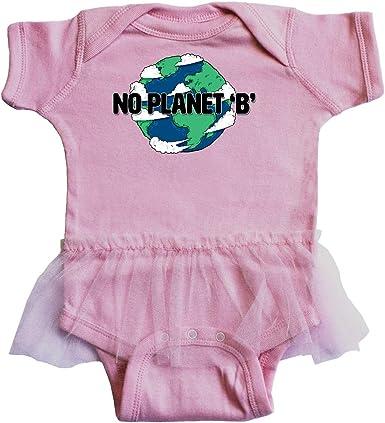 inktastic No Planet B with Cartoon Earth Infant Tutu Bodysuit