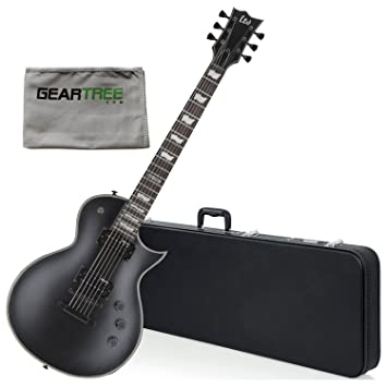 Esp lec256blks Ltd CE 256 BLKS guitarra eléctrica w/gamuza de geartree y duro caso