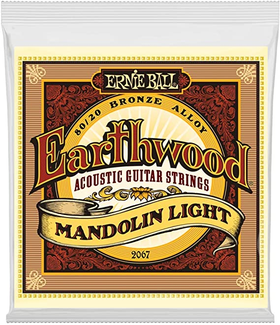 Ernie Ball Earthwood Mandolin Light 80/20 Bronze Loop End Set