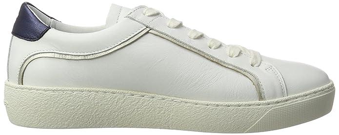 S1285UZIE 1A1, Scarpe da Ginnastica Basse Donna, Bianco (White), 41 EU Tommy Hilfiger