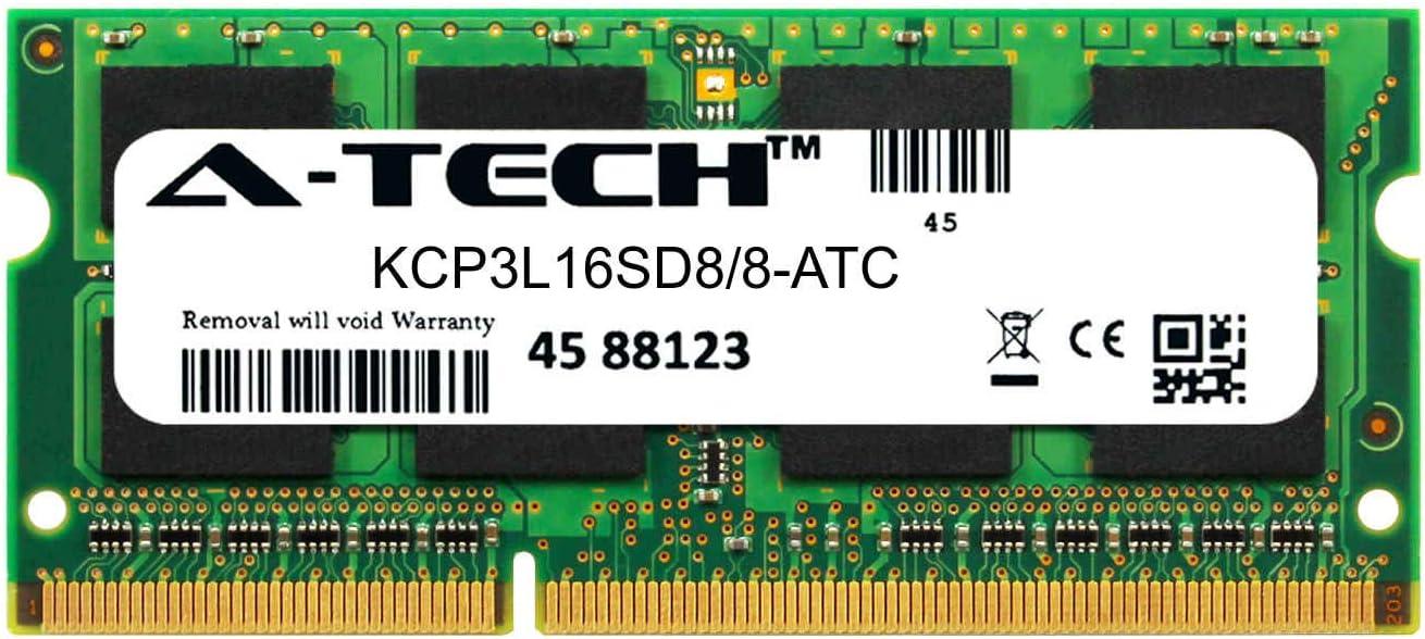 A-Tech 8GB Replacement for Kingston KCP3L16SD8/8 - DDR3/DDR3L 1600MHz PC3-12800 Non ECC SO-DIMM 2rx8 1.35v - Single Laptop & Notebook Memory Ram Stick (KCP3L16SD8/8-ATC)