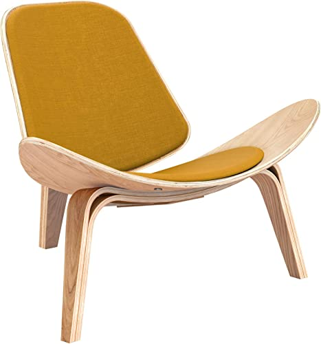 NyeKoncept Moody Gold Shell Chair, Natural