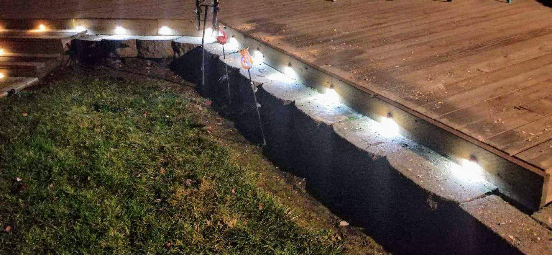 FVTLED 20er Set Treppen Bodeneinbauleuchten Aussen /Ø45mm IP67 Wasserdicht 0.5W Einbaustrahler Terrasse K/üche Garten Led Lampe